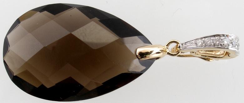 10k yellow gold smoky quartz pendant 18154 10k yellow gold smoky quartz pendant 18154 aloadofball Images
